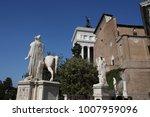 piazza del campidoglio   statue ...   Shutterstock . vector #1007959096