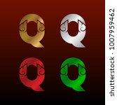 letter q logotype with thai art ... | Shutterstock .eps vector #1007959462