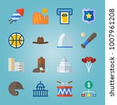 icon set about united states... | Shutterstock .eps vector #1007961208