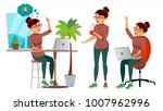 business woman character vector.... | Shutterstock .eps vector #1007962996