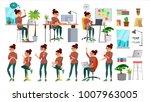 office designer girl business...   Shutterstock .eps vector #1007963005