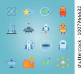 icon set about universe with... | Shutterstock .eps vector #1007966632