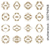 ornate vector set. victorian... | Shutterstock .eps vector #100796968