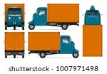 Three Wheeler Truck Vector Moc...