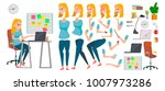 business woman character vector.... | Shutterstock .eps vector #1007973286