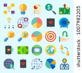 icons set about marketing with...   Shutterstock .eps vector #1007982205