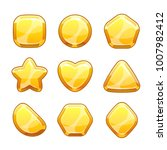 golden shapes set. isolated... | Shutterstock .eps vector #1007982412