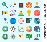 icons set about marketing with...   Shutterstock .eps vector #1007982535