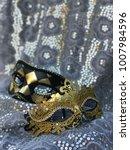 Small photo of Black and Gold Masquerade Masks