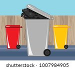 an illustration of waste and...   Shutterstock . vector #1007984905