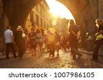 a lot of people walking on a... | Shutterstock . vector #1007986105