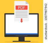the pdf file is downloaded to... | Shutterstock .eps vector #1007987542