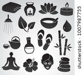 spa icon set. vector symbols... | Shutterstock .eps vector #1007987755