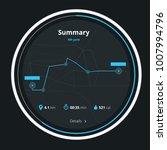 fitness run application. vector ... | Shutterstock .eps vector #1007994796