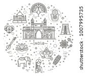 india icons set. indian... | Shutterstock .eps vector #1007995735