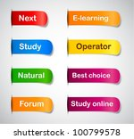vector multicolored paper... | Shutterstock .eps vector #100799578