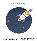 bitcoin rocket launch space... | Shutterstock .eps vector #1007997058