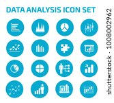 data analysis icon set | Shutterstock .eps vector #1008002962