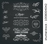 calligraphic frames and banners ... | Shutterstock .eps vector #1008004042