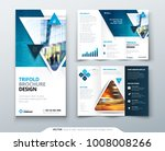 bifold brochure design. red ... | Shutterstock .eps vector #1008008266