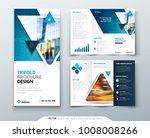 bifold brochure design. red ... | Shutterstock .eps vector #1008008266