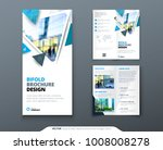 bifold brochure design. blue... | Shutterstock .eps vector #1008008278