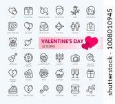 valentine's day romantic... | Shutterstock .eps vector #1008010945
