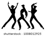 silhouette of three typical... | Shutterstock .eps vector #1008012925