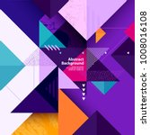 geometric background of multi... | Shutterstock .eps vector #1008016108