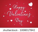 happy valentines day typography ... | Shutterstock .eps vector #1008017842