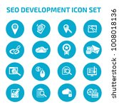 seo development icon set | Shutterstock .eps vector #1008018136
