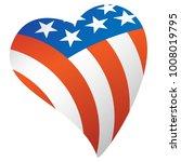 patriotic american flag usa... | Shutterstock .eps vector #1008019795