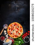 traditional italian pizza on a... | Shutterstock . vector #1008020275