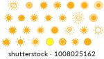set of sun icons  different... | Shutterstock .eps vector #1008025162