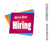 we are hiring poster or banner... | Shutterstock .eps vector #1008025822