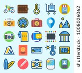 icons set about travel with... | Shutterstock .eps vector #1008026062