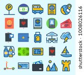 icons set about travel with... | Shutterstock .eps vector #1008026116