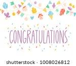 congratulations vector... | Shutterstock .eps vector #1008026812