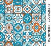 spanish tiles seamless pattern | Shutterstock .eps vector #1008026848