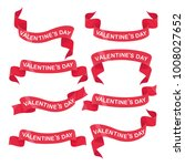 set of red ribbons for... | Shutterstock .eps vector #1008027652