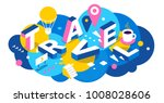 vector creative abstract... | Shutterstock .eps vector #1008028606
