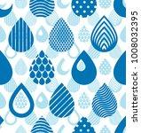 rain drops falling seamless... | Shutterstock .eps vector #1008032395