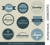 vector retro label collection | Shutterstock .eps vector #100803592
