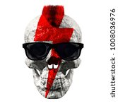 skull in sunglasses with a... | Shutterstock . vector #1008036976