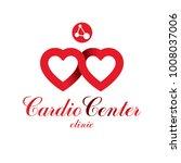 vector heart shape logo created ...   Shutterstock .eps vector #1008037006