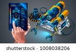 autonomous underwater rov on... | Shutterstock .eps vector #1008038206