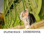 happy bride and groom   Shutterstock . vector #1008040456