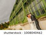 happy bride and groom   Shutterstock . vector #1008040462