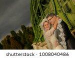 happy bride and groom   Shutterstock . vector #1008040486