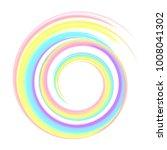 rainbow pastel colors vector... | Shutterstock .eps vector #1008041302